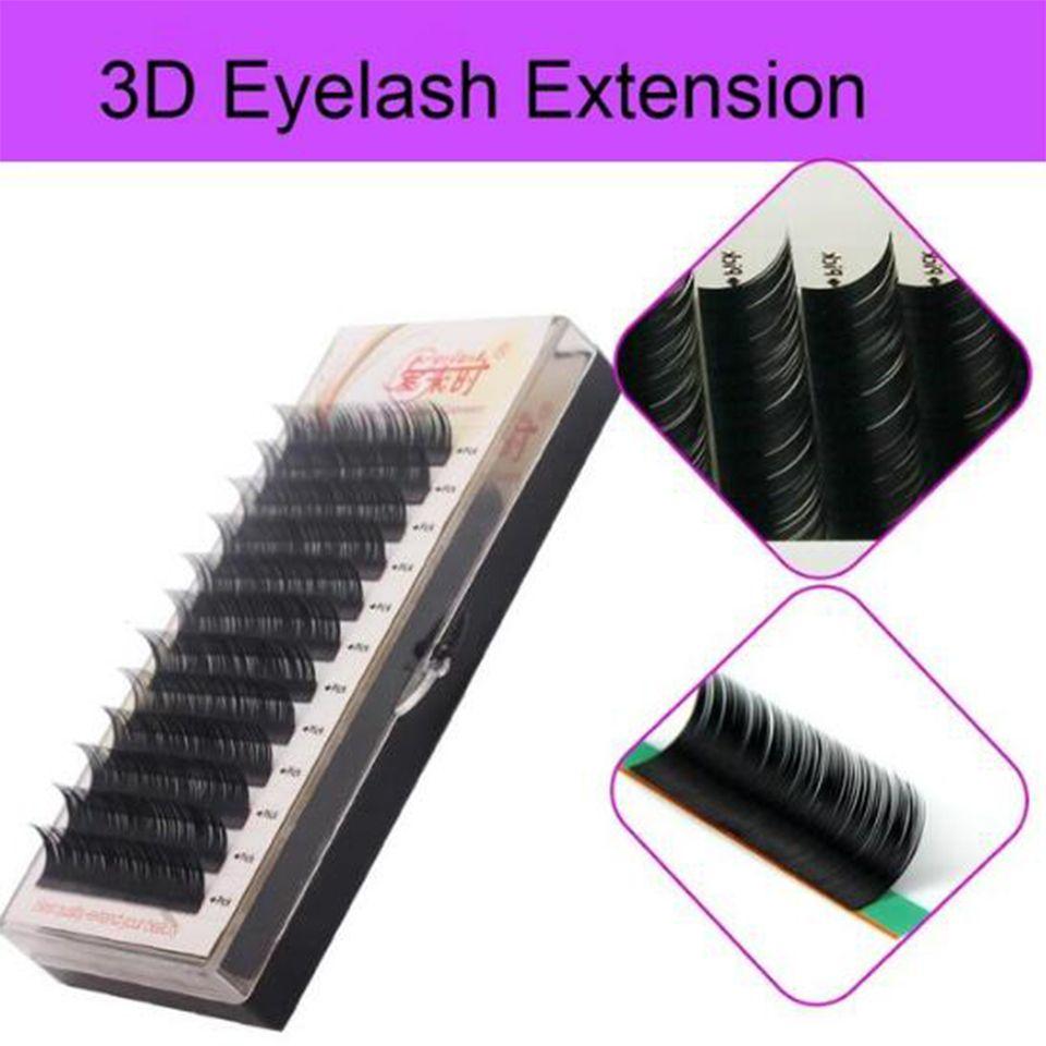 Natural Soft Silk 100 Hand Made 3d Volume Eyelash Extension Korea