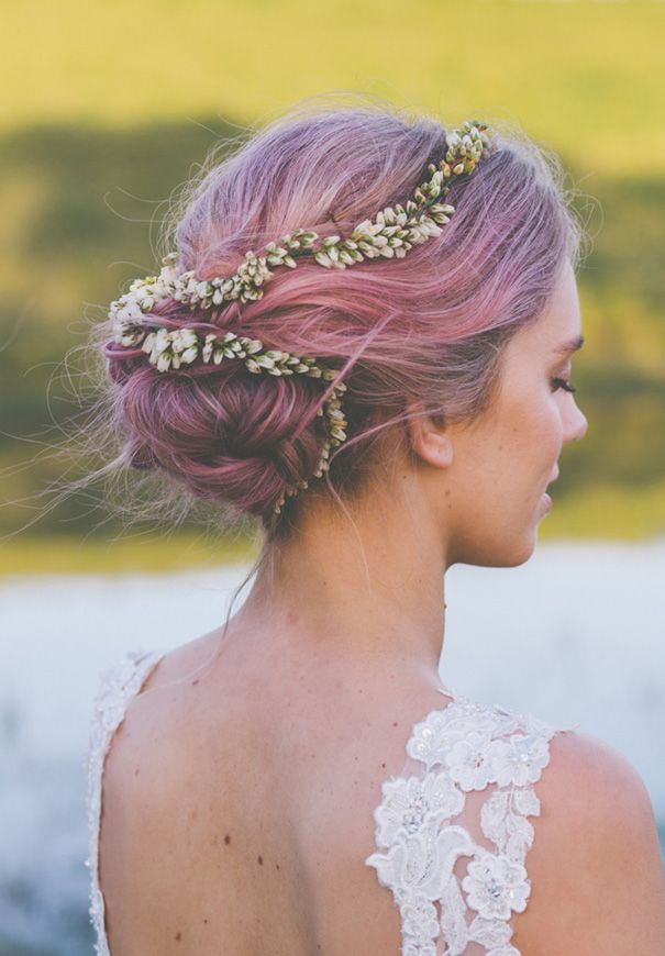Nsw Purple Hair Bride Wedding Inspiration Barn Country43 Classy