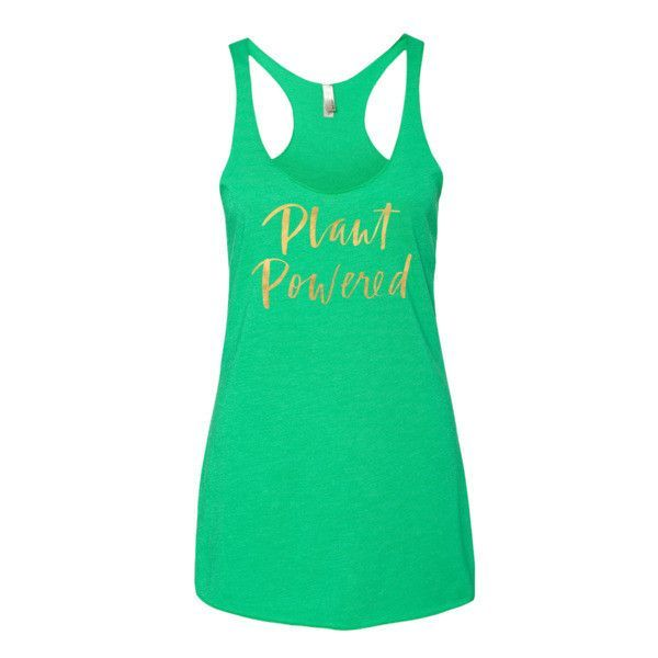 Plant Powered Tunic Tank Top in Gold