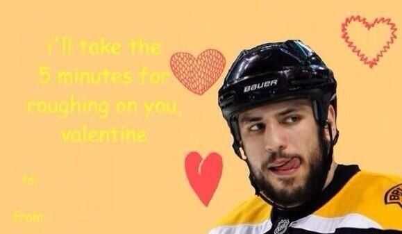 Pin By Hockey Hunks On Hockey Valentines Hockey Valentines Milan Lucic Fun Sports