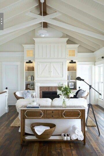 Pin By Beth Bryan Designs On Shiplap Coffered Ceilings Farm House Living Room Farmhouse Decor Living Room Cottage Living Rooms