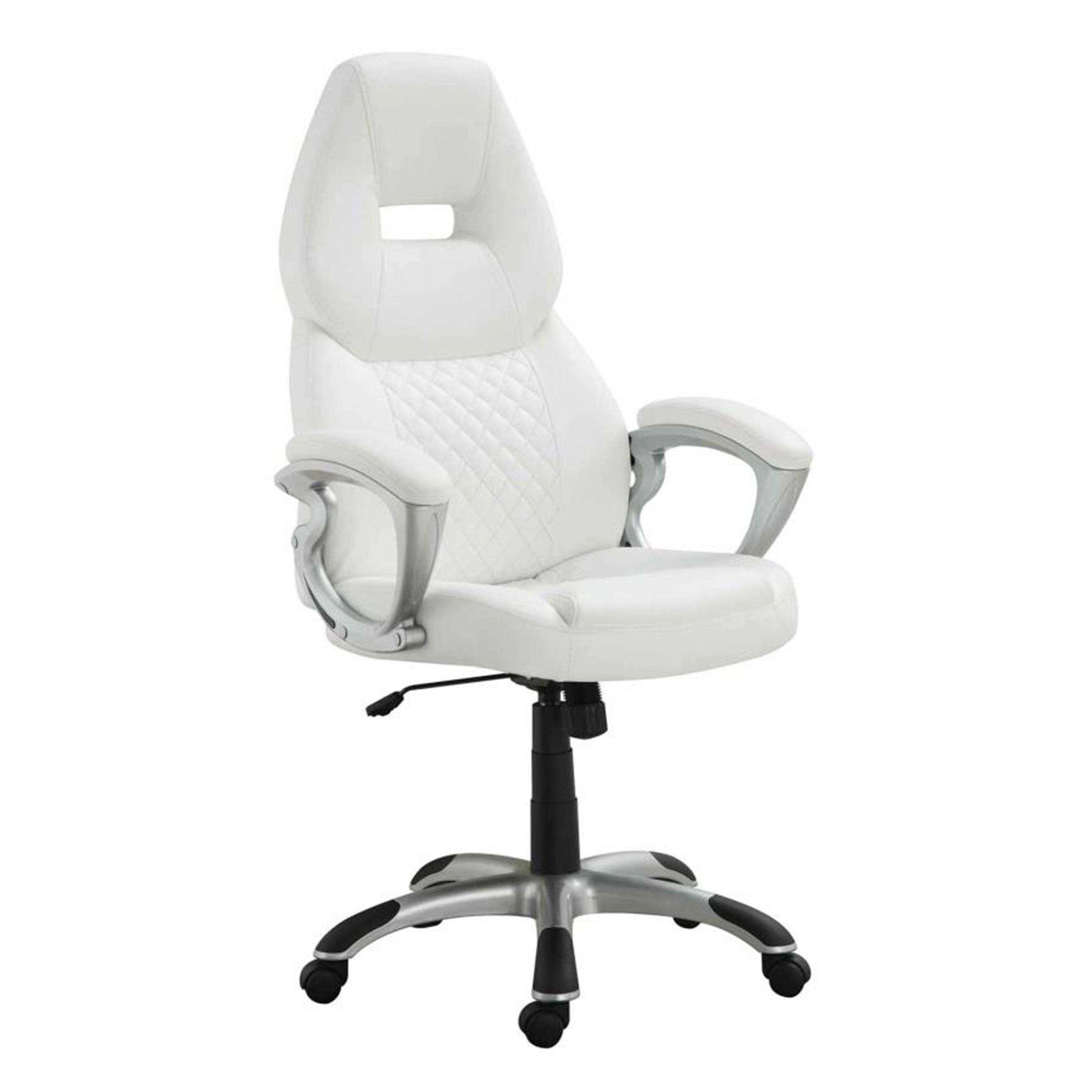 Worldwide Quinn Leatherette Office Chair in White