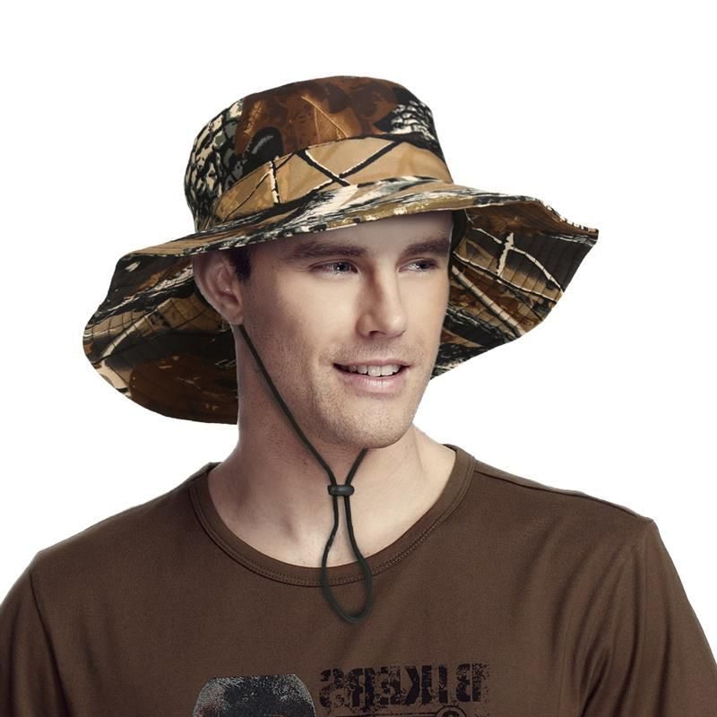 2342761722dd86 Vbiger Men Women Bucket Hat Floppy Fishing Hat Adjustable Sun Protection Cap  Casual Outdoor Sun Cap