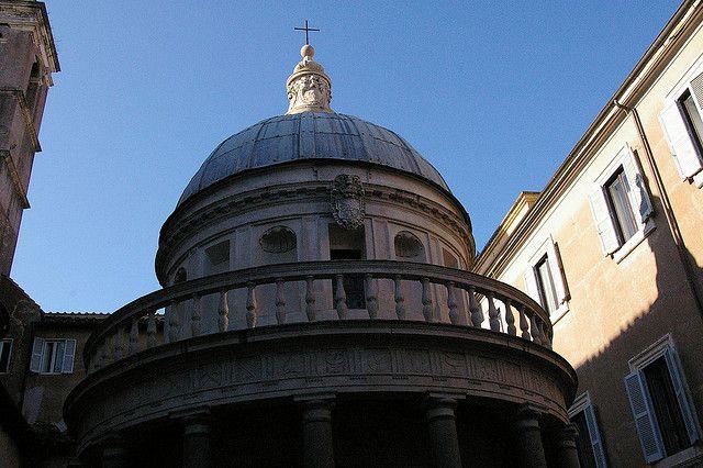 Bramante's Tempietto, beside San Pietro In Montorio.
