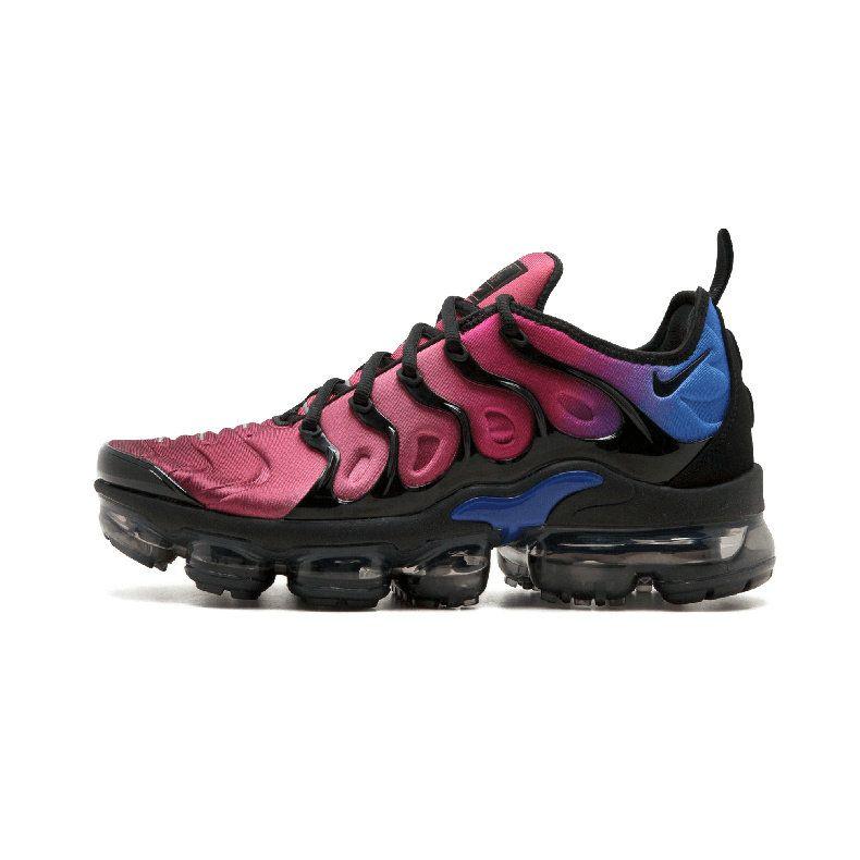 2c147ef461 ... 2018 Real Nike Wmns Air Vapormax Plus Hyper Violet Purple Black Red  Racer Blue Ao4550 001 . ...