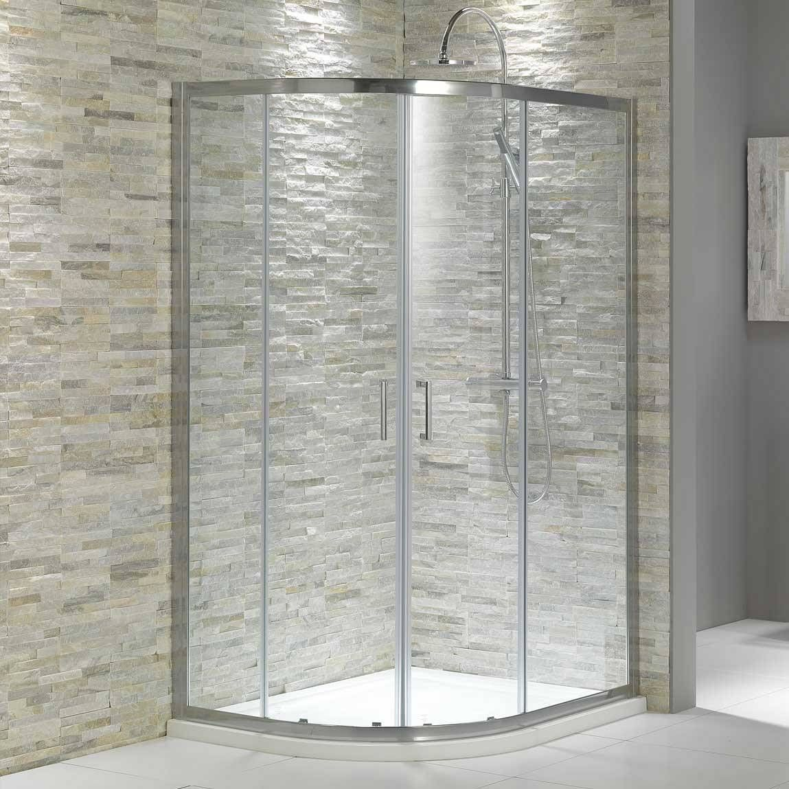V6 Quadrant Offset Shower Enclosure 1200 X 800 Stone Shower