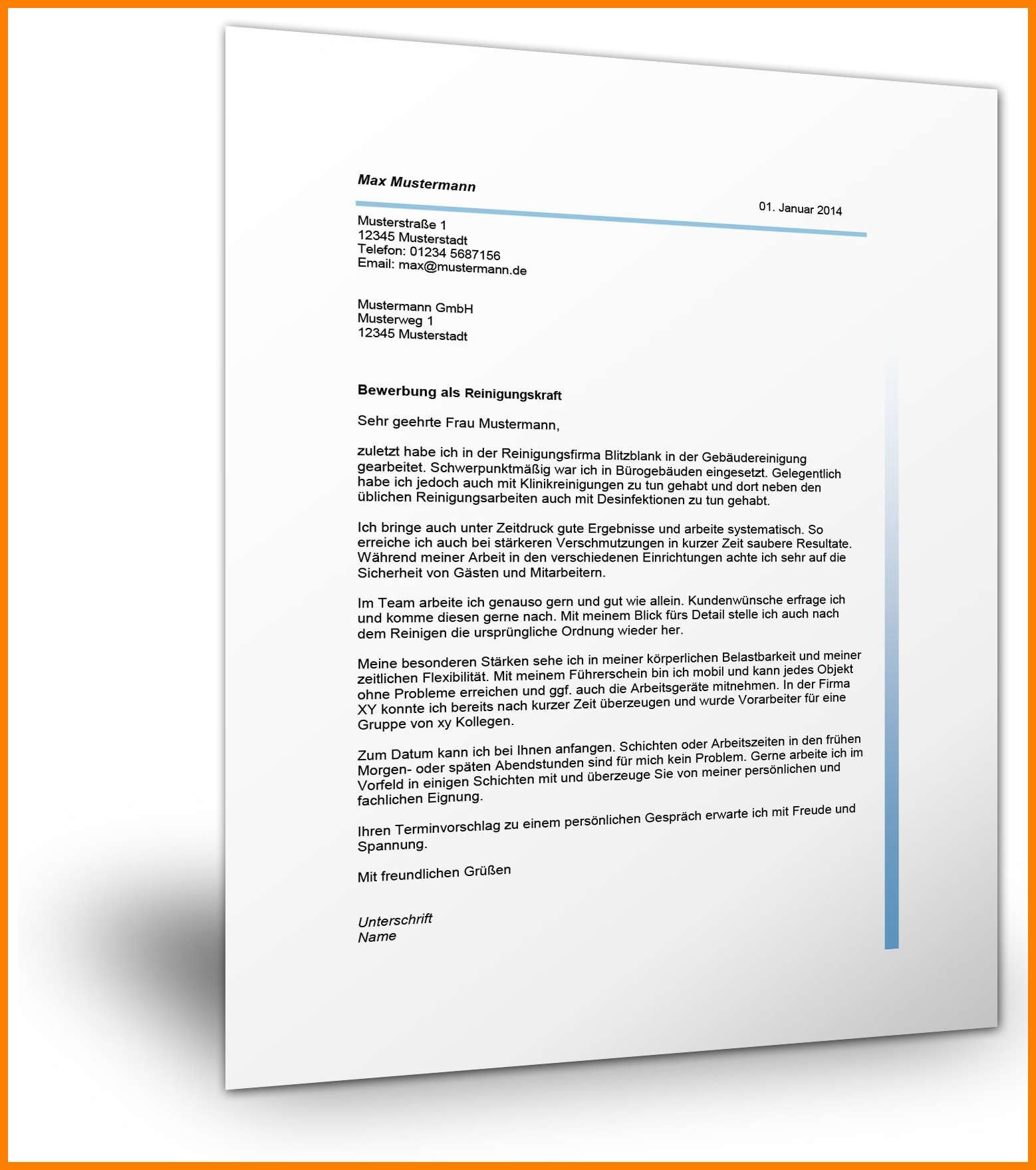 Neu Anschreiben Als Reinigungskraft Briefprobe Briefformat Briefvorlage Reinigungskraft Jobcenter Lebenslauf Layout