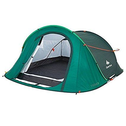 Quechua 2 Seconds Waterproof Pop Up C&ing Tent 3 Man (Green)  sc 1 st  Pinterest & Quechua 2 Seconds Waterproof Pop Up Camping Tent 3 Man (Green ...
