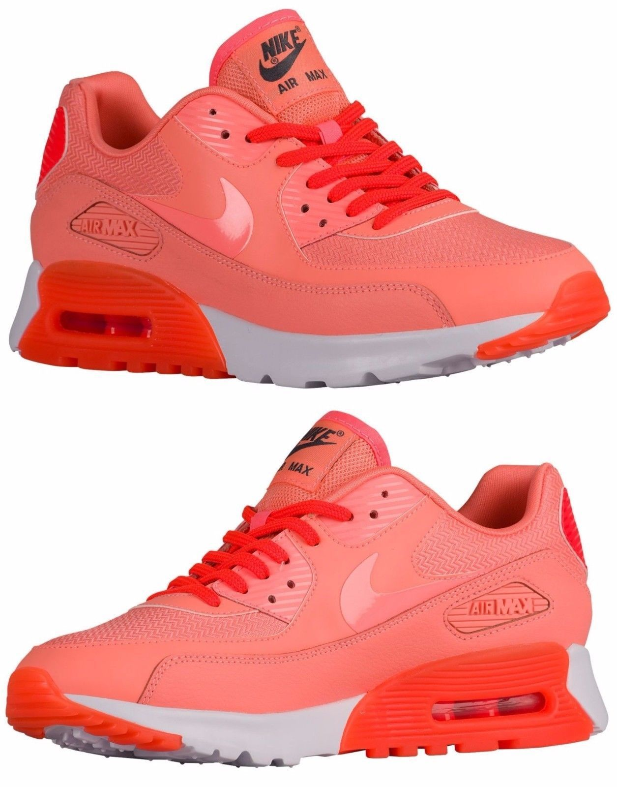 Nike Air Max 90 Ultra WomenS Mesh M Running Atomic Pink - Crimson - White  Usa