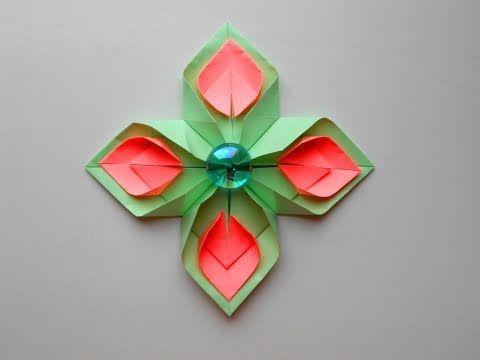Paper Flowers Diy Origami Youtube Paper Flowers Diy Origami