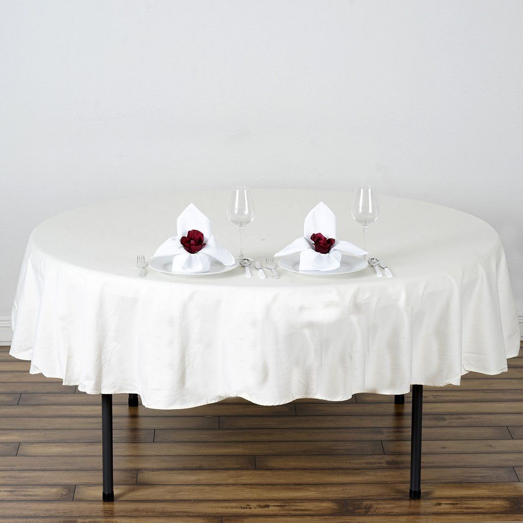 70 Ivory Round Chambury Casa 100 Cotton Tablecloth In 2020 With Images Table Cloth Round Tablecloth Cotton Tablecloths