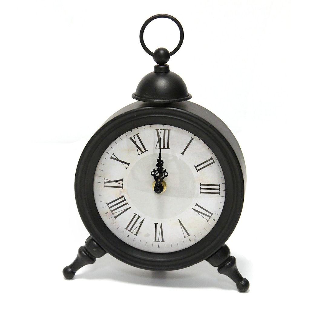 Stratton Home Decor Norman Table Clock Black Clock Home Decor
