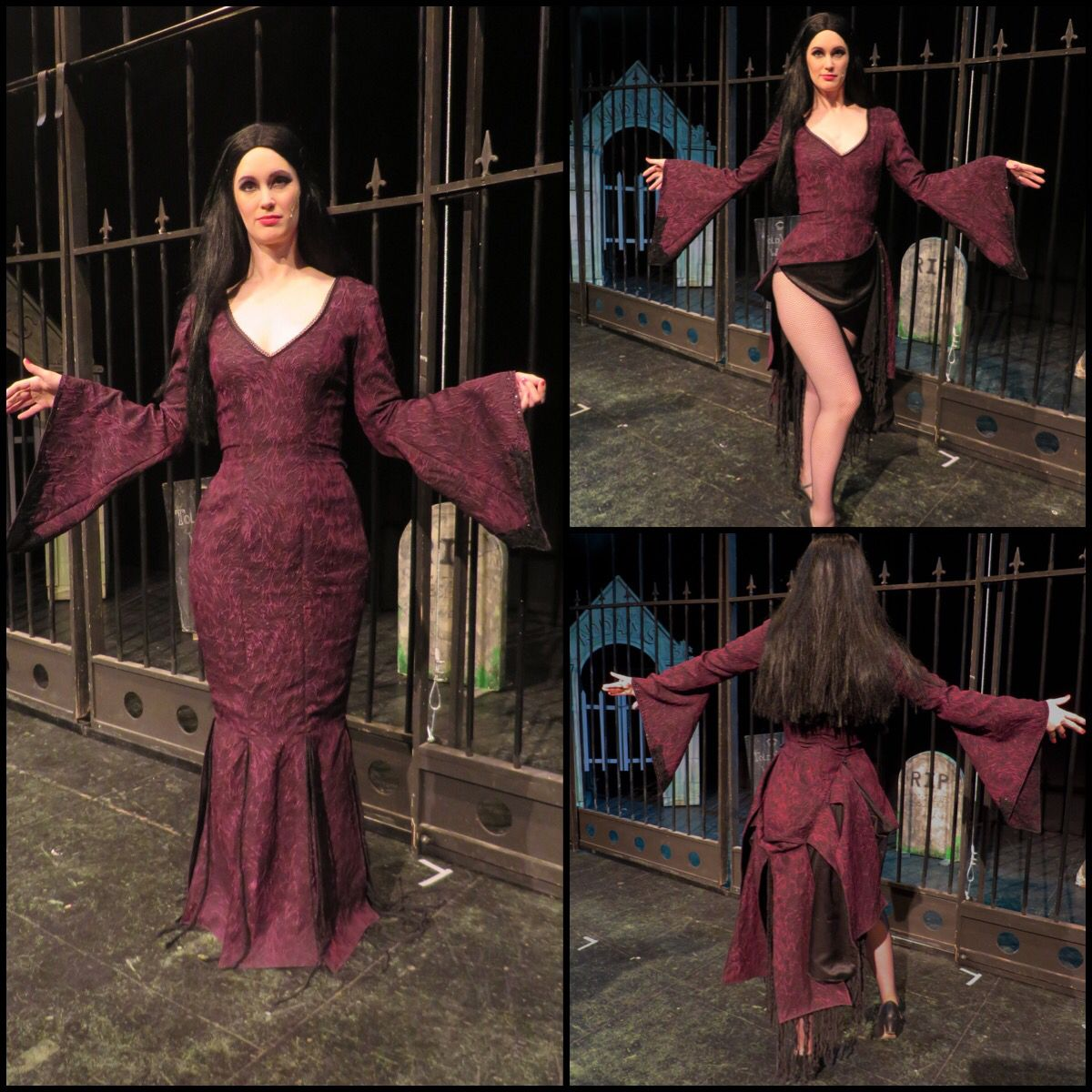 Morticia dress I made for The Addams Family Musical ...
