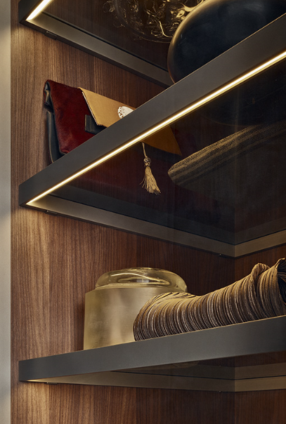 Underlighting Detail From Poliform Collection 2015 Closet Lighting Interior Lighting Glass Shelves