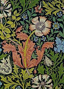 William Morris 1858 Producción Artística El Arte De La Artesanía Dibujo Floral