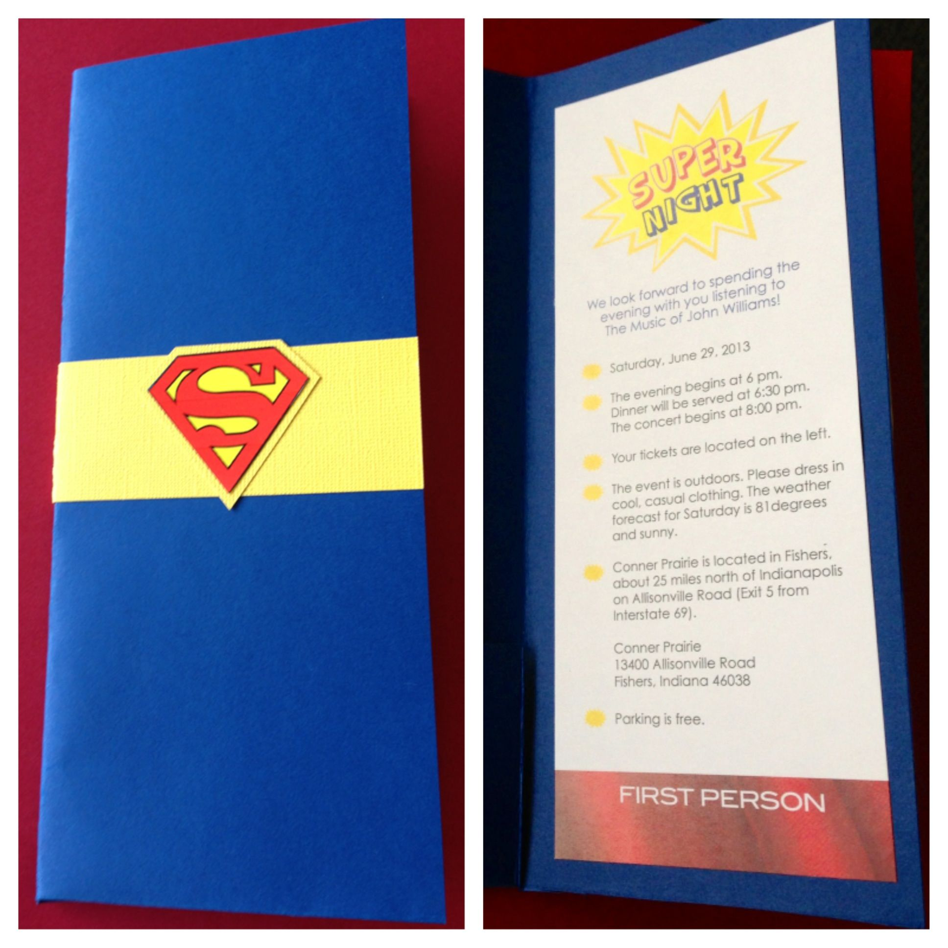 Justice League Invitations Free: Superman Invitation. Super Night.