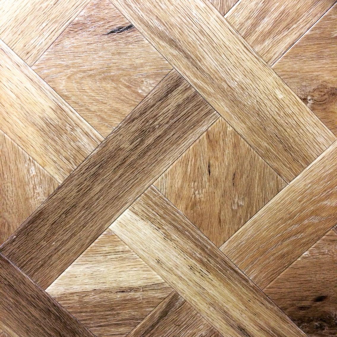 Vinyl Real Wood Flooring: Amtico Worn Oak AROW7390 Basket Weave Design