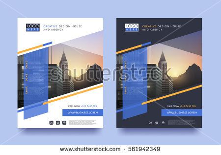 poster flyer pamphlet brochure cover design layout space for photo - pamphlet layout template