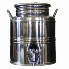 Superfustinox Stainless Steel Fusti With Spigot 3 Liter Water Dispenser Antique Milk Can Making Water