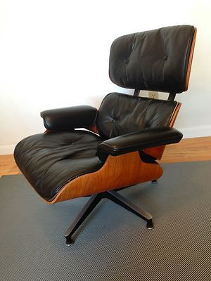 Charles Eames Lounge Chair Ottoman Authentic Vintage Series 2 1960