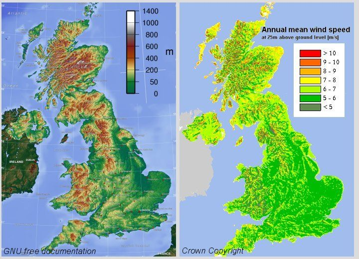 Elevation Map Of England London Map - Topographic map of united kingdom