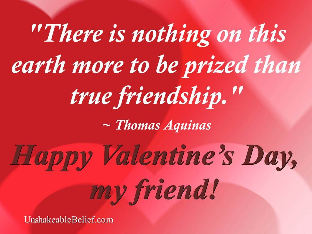 A great quote about love and friendship – Valentine Card Friend