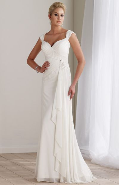 Destinations By Mon Cheri Long Lace Casual Wedding Dress 211192 At Frenchnovelty BEAUTIFUL