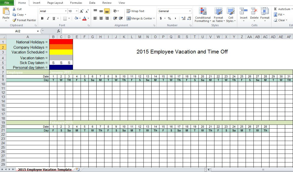 Employee Vacation Planner Template Excel Fresh Employee Vacation Tracking Excel Templa Vacation Planner Template Planner Template Simple Business Plan Template