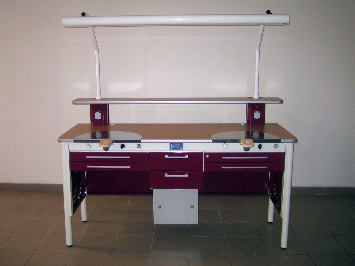 Mesa de trabajo kappa con l mpara jeb proclilab - Ikea mesas trabajo ...