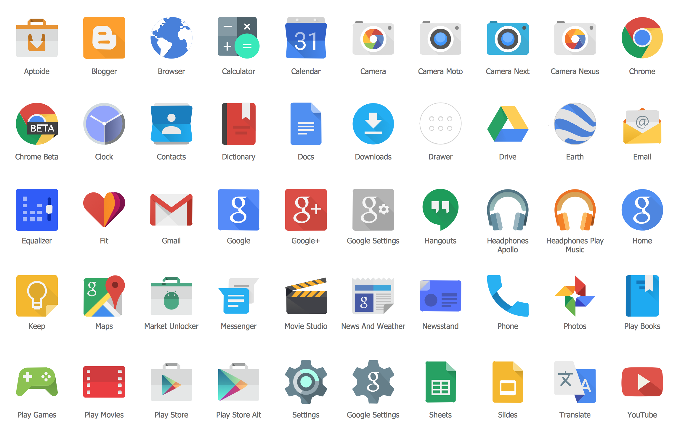 Design Elements Android Product Icons Android app icon