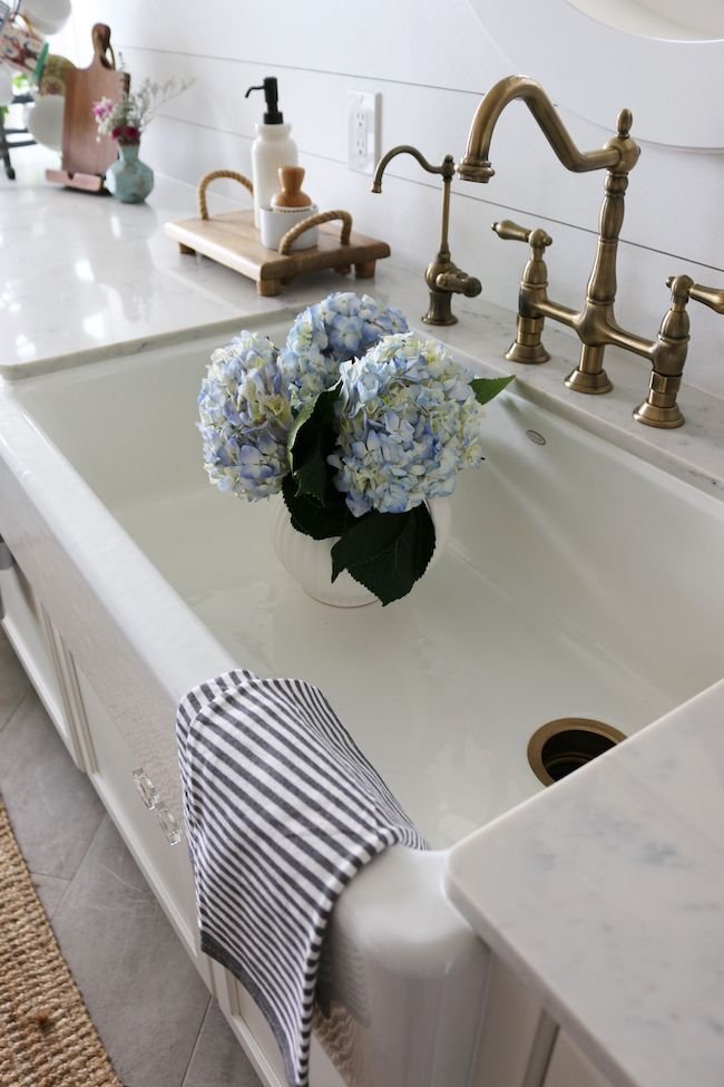 Farmhouse Sink - Small Kitchen Remodel Reveal! - The Inspired Room