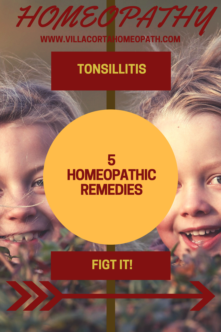 No need for antibiotics for tonsillitis  Homeopathic