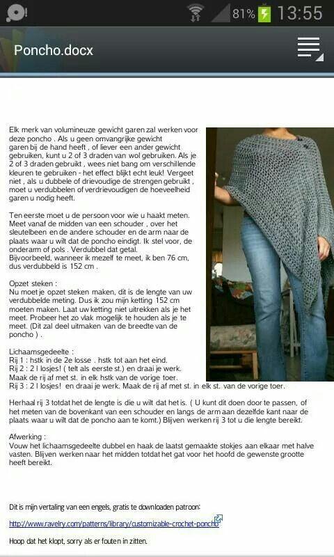 Asymmetrische Poncho Crochet Shawls Wraps Crochet