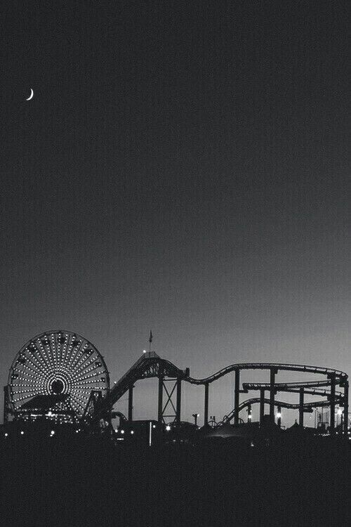Theme Park In Black White