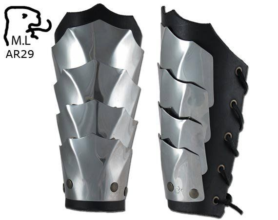 New Armor Elf Bracers In Stainless Steel Ar29 Etsy Leather Bracers Bracer Stainless Steel Armor