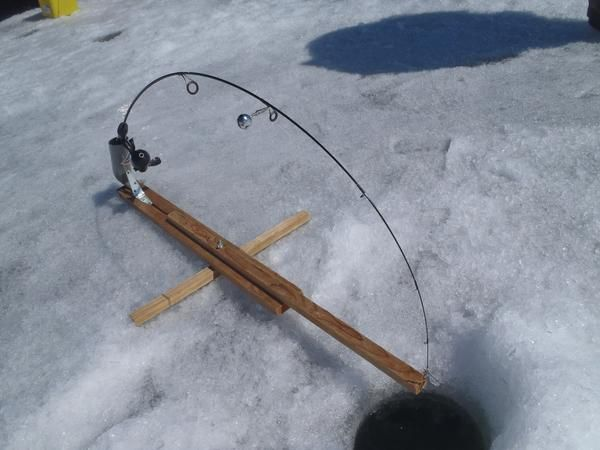 I know there are topics for homemade tip ups automatic for Ice fishing rod holders