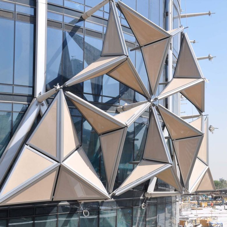 Al Bahar Towers Kinetic Architecture Origami