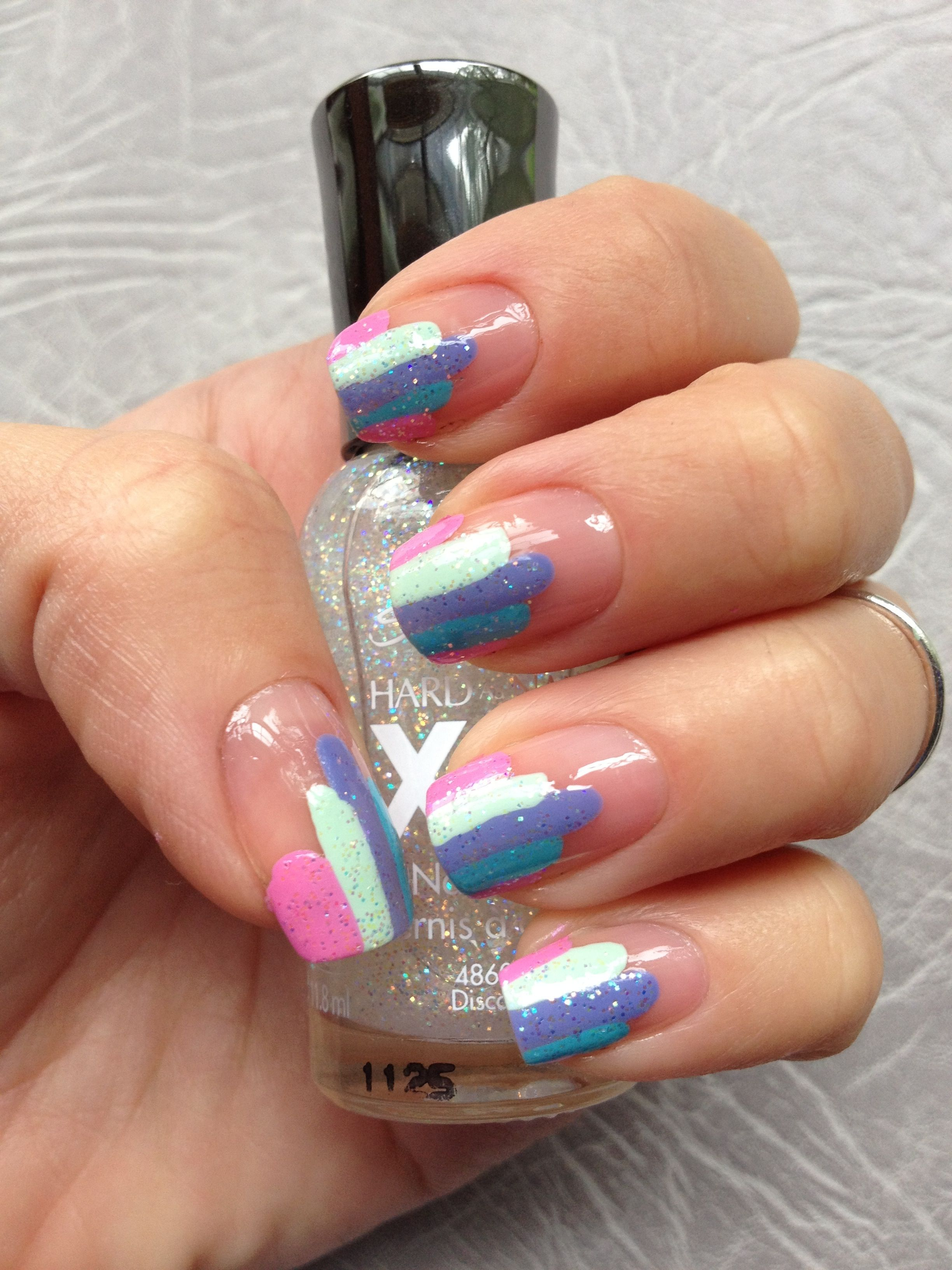 Sparlky Stripped Nail Art My Nail Designs Pinterest Stripped