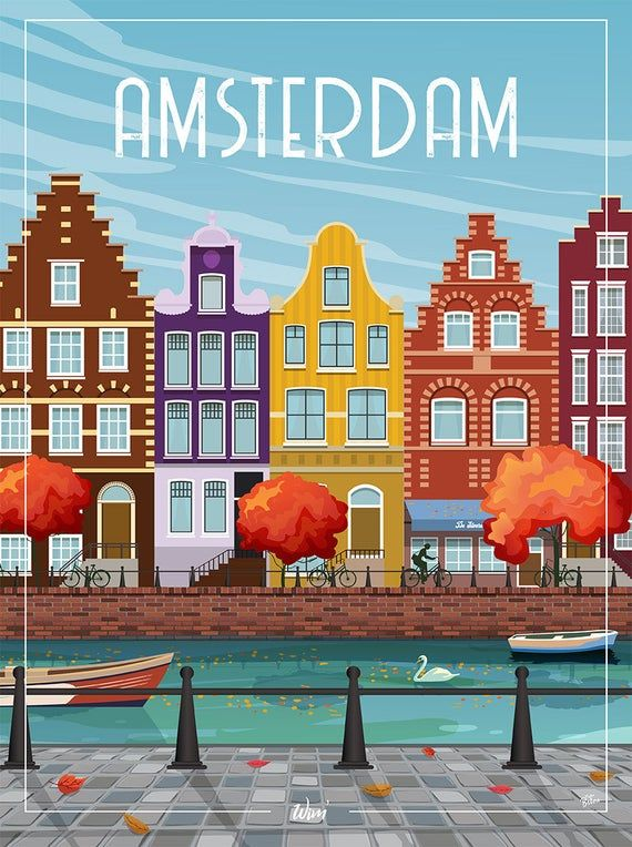 Amsterdam – the wall decoration poster