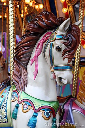 Free Pictures Of Carousel Horses Horse On A Carousel Royalty Free