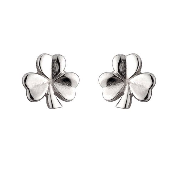 Sterling Silver Shamrock Stud Earrings by Solvar Get lucky with these gorgeous Sterling Silver Shamrock Stud Earrings crafted by Solvar Jewelry. The shamrock is recognized as the symbol of Ireland and is universally known as a symbol of good luck and fortune. The elegant simplicity of these earrings will make you shine! Made by Solvar Jewelry in Ireland. BRAND NEW and gift box included. Solvar Jewelry Earrings