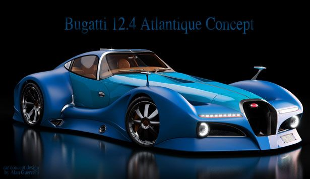 2014 Bugatti 12.4 Atlantique Concept by Alan Guerzoni