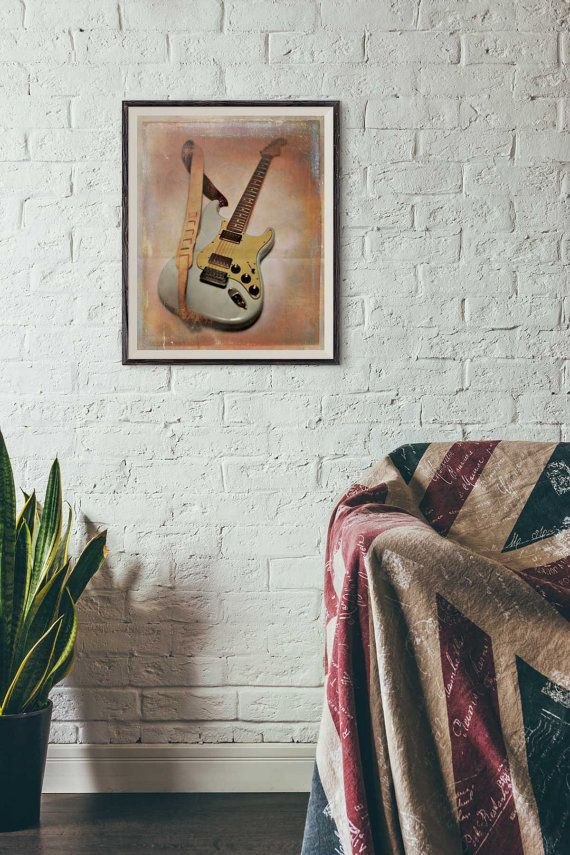 Guitar Dreams Art Print by MercurialYoYo on Etsy  8 x 10 Inch print is on Premium watercolor paper $20.  13 x 19 inch print is on 13 Mil textured canvas $45.