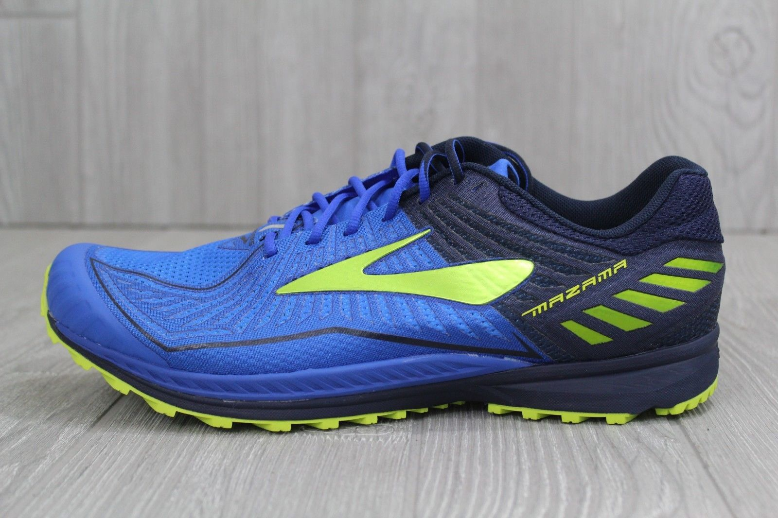 13276bad744 32 New Brooks Mazama 2 Trail Blue Neon Running Shoes Men s size 9  1102351D467