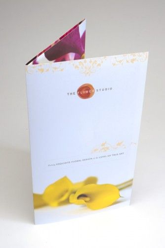 Brochure Design Portfolio The Flower Studio Evidence of Our - studio brochure