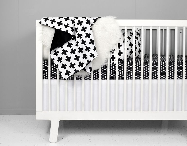 Olli Lime Modern Crib Bedding Modern Black White Nursery Bedding Babybeddingsets