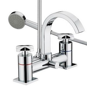 10 Year Guarantee Polished Chrome Home Standard Acel Bathroom Cross Head Chrome Mono Basin Sink Mixer Tap with Slotted Spring Waste