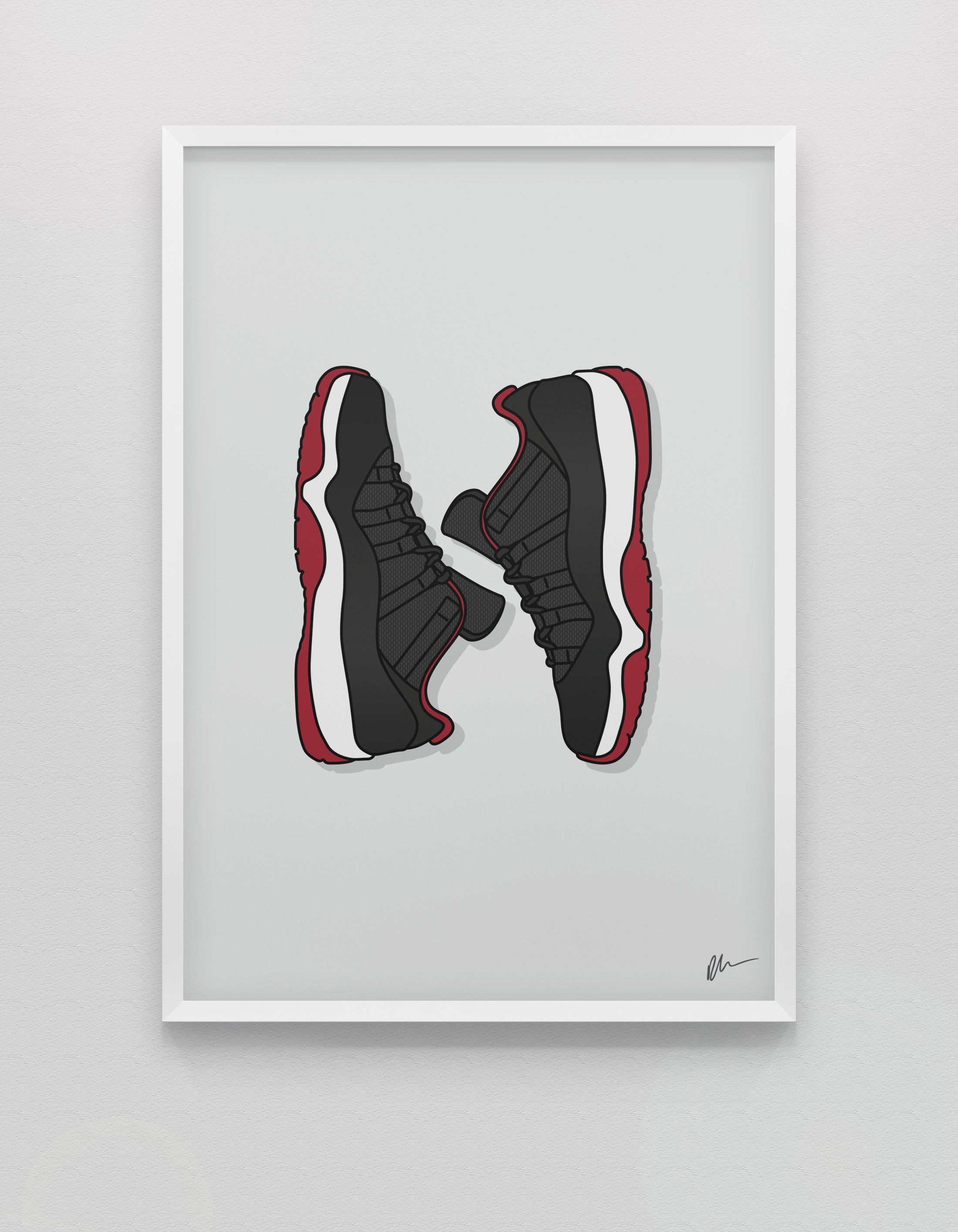 New Jordan 11 Low Bred Cute Patterns Wallpaper Hypebeast Wallpaper Sneaker Posters