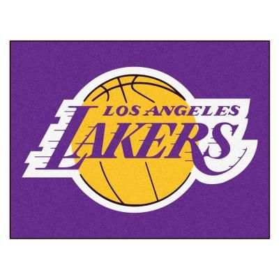 Fanmats Nba Los Angeles Lakers Purple 2 Ft 9 In X 3 Ft 6 In Indoor All Star Mat Area Rug Team Color Los Angeles Lakers Lakers Nba Los Angeles