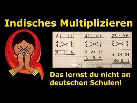 indisches Multiplizieren | geheime Lehrermethoden | Mathematik #math